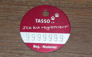 Tasso Plakette mit TKN